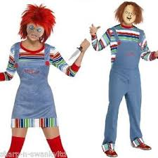 chucky costumes and mens chucky couples horror fancy dress