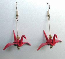 origami earrings paper crane earrings earrings origami paper