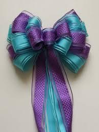wedding gift bows purple blue wedding pew bow turquoise purple baby shower