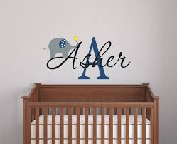 elephant wall decal name wall decal baby nursery wall decal nursery wall decal boys name vinyl decals gallery photo gallery photo gallery photo
