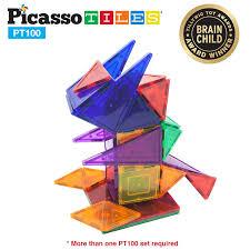 Magna Tiles Black Friday by Picassotiles 100 Piece Set Clear 3d Magnet Building Blocks Tiles