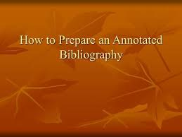 Annotated bibliography social science