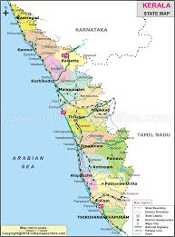 Blank India Map With State Boundaries by Kerala Map Kerala State Map