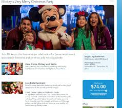 details revealed for 2015 mickey u0027s very merry christmas party at