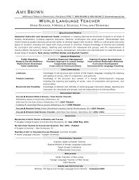 Sample Of Teachers Resume by Esl Resume Sample Sample Resume For Teaching English Abroad Sample