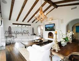Living Room Ceiling Beams Contemporary Living Room With Ceiling Beams And White Sofas