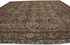 Persian Furniture Store In Los Angeles Distressed Antique Persian Bakhtiari Rug With Modern Industrial