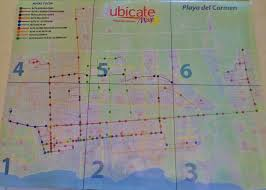 Plaza Las Americas Map by How To Use Public Buses And Colectivos In Playa Del Carmen