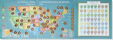 Maryland State Parks Map by National Parks Commemorative Quarters Collector U0027s Map 2010 2021