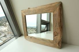 Wood Mirror Frame Reclaimed Wood Mirror Frame Stunning Mirror This Time We Opted For