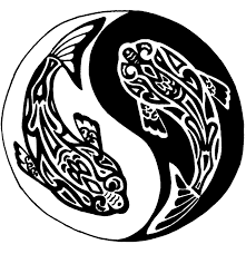 yin yang koi fish tribal by elizabeth0058 on deviantart