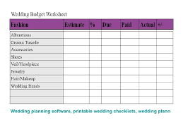Wedding Planning Software Wedding Checklists 2 Budget