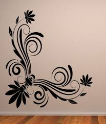 Wwe Wall Stickers Destudio Floral Corner Wall Art One Wall Art Stickers And Wall