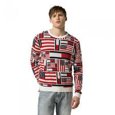 hilfiger sweater mens hilfiger sweaters fleece mens icon flag sweater