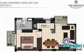 1 bhk floor plan 1 bhk 2 bhk 3 bhk ready to move flats in the eminence ambala