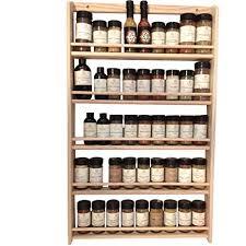 Wooden Wall Mount Spice Rack Amazon Com Emejiasales Oak Spice Rack Wall Mount Organizer 5