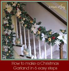 Christmas Lights For Stair Banisters How To Make A Christmas Garland In Six Easy Steps