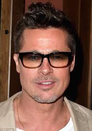 mens light tint sunglasses brad pitt plays it cool as he arrives at night time screening of big