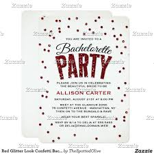 best bachelorette party invitations red glitter look confetti bachelorette party card bachelorette