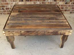 coffee table mesmerizing reclaimed wood square coffee table