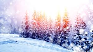 winter snow holidays two landscape nature let colors