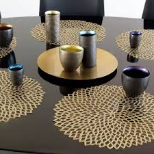 dining room placemats dining room chilewich table placemats and runners dahlia black