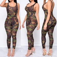 camouflage jumpsuit womens 2018 jumpsuit 2016 rompers army camouflage bodysuit