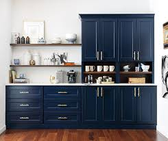 kitchen cabinets with blue doors butler s pantry with custom blue cabinets omega