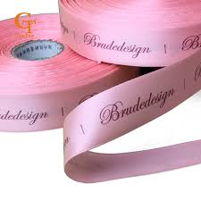 silk satin ribbon custom logo silk satin ribbon printing customized brand name