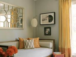 cheerful design ideas using brown loose curtains and rectangular