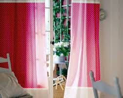 Rainbow Curtains Childrens Pink Curtains Etsy