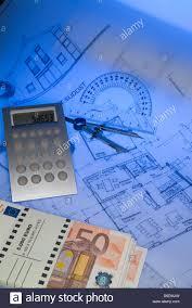 architect plan pile 50 euro bank notes stock photo royalty free