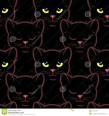 seamless pattern with cute black cats stock vector image 42581438
