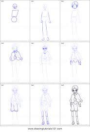 how to draw kairi sanjo from shugo chara printable step by step