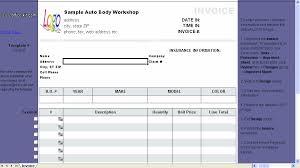 Repair Order Template Excel Auto Repair Invoice Template C5 019 Excel Invoice Manager