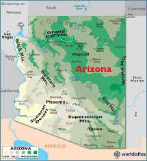 map of az arizona large color map