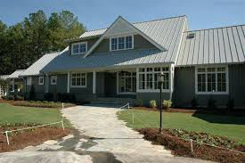 home designer pro gable roof grey siding house with black roof mid sized transitional white two