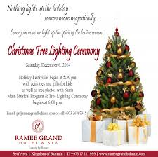 ramee grand hotel spa tree lighting ceremony events