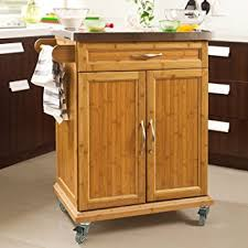 Kitchen Cabinet With Wheels by Amazon Com Haotian Fkw13 N Wood Kitchen Cabinet Kitchen Storage