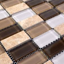 Beautiful Stone Glass Mosaic For Bathroom Wall Tiles And Kitchen - Stone glass mosaic tile backsplash