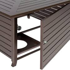 outdoor gas fire pit table best choice products extruded aluminum gas outdoor fire pit table