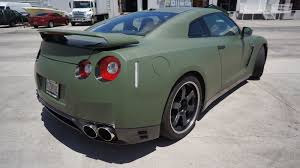 nissan gtr matte black nissan gtr custom matte car wrap miami florida