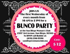 bunco party bunco party wednesday june 5 2013 10 a m to 2 p m san