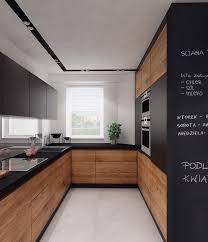 cuisine sol noir cuisine noir mat et bois idées décoration intérieure farik us