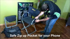 Director Style Chairs Easy Fold Directors Chair Caravan Camping Www Eledric Com Au Youtube