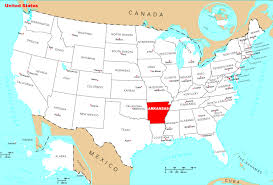 us map with arkansas united states map arkansas detailed location map of arkansas state