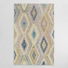 Purple And Turquoise Area Rug Wool U0026 Sheepskin Rugs World Market