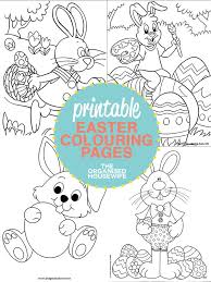 printable easter colouring pages organised housewife