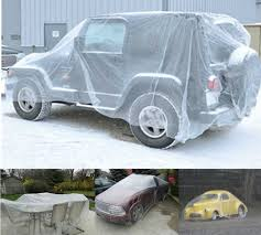 amazon com fami transparent disposable plastic car cover dust