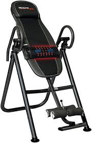inversion table 500 lbs capacity amazon com health gear itm4 5 adjustable heat massage inversion